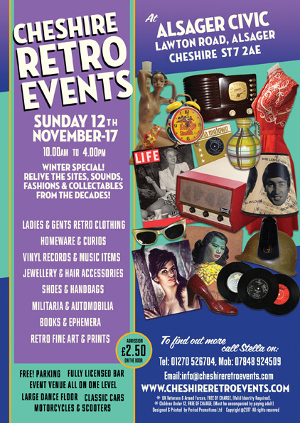 CHESHIRE RETRO EVENTS AT ALSAGER CIVIC HALL